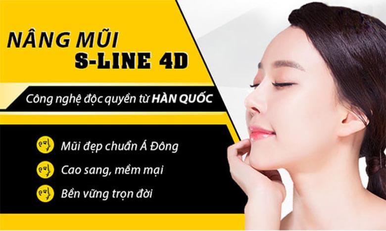 Nâng mũi S Line 4D có sự hỗ trợ của công nghệ Vectra 3D hiện đại