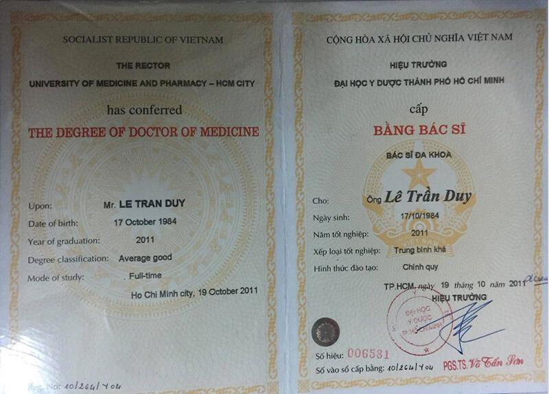Tốt nghiệp Đại học Y Dược Thành Phố Hồ Chí Minh